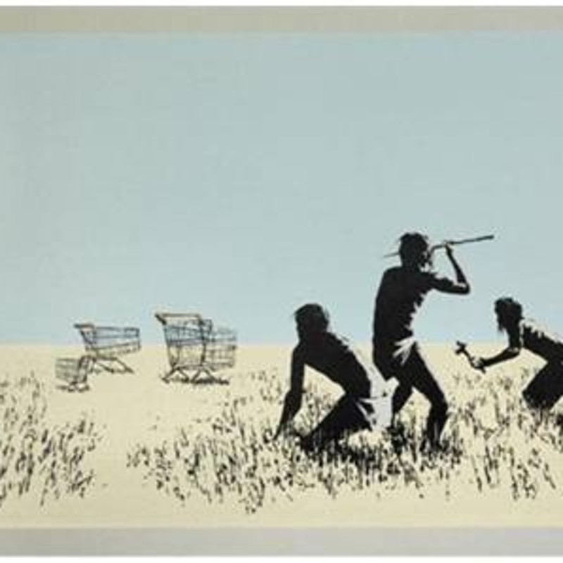 Banksy, Trolley Hunters (Colour), 2007