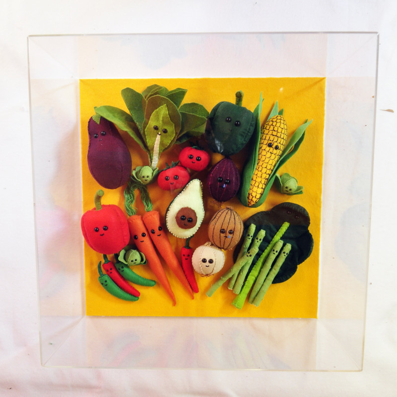 Lucy Sparrow, Vegetable Patch, 2018