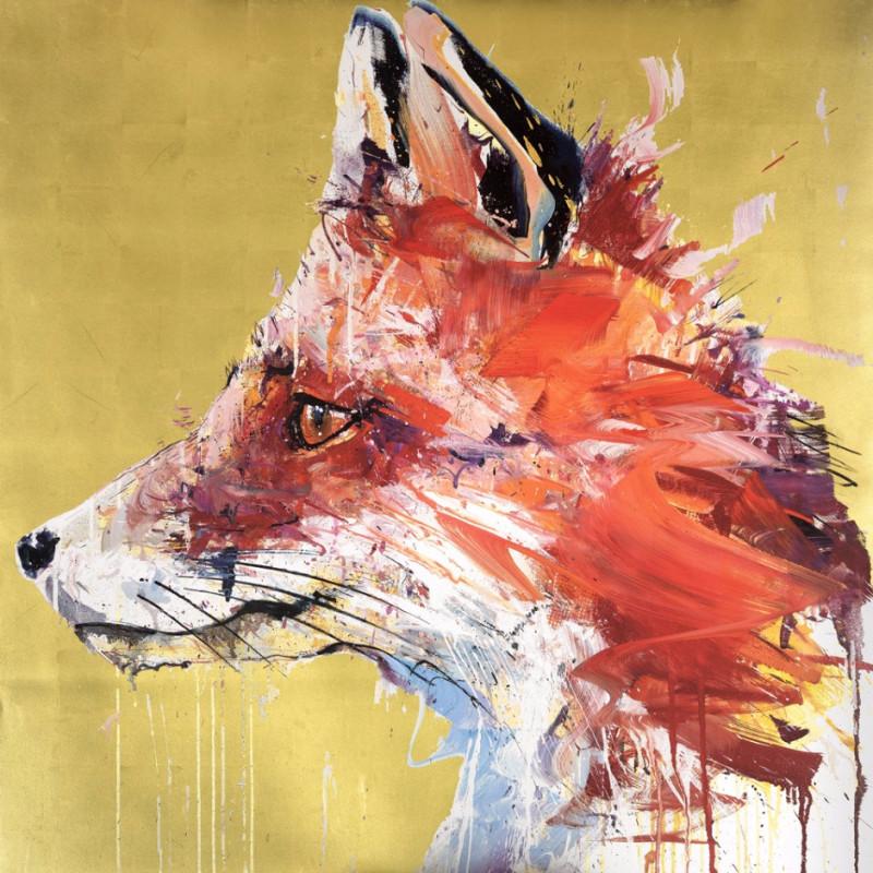 Fox, Gold Leaf