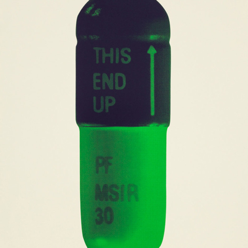 Damien Hirst, The Cure - Cream/Aubergine/Pea Green