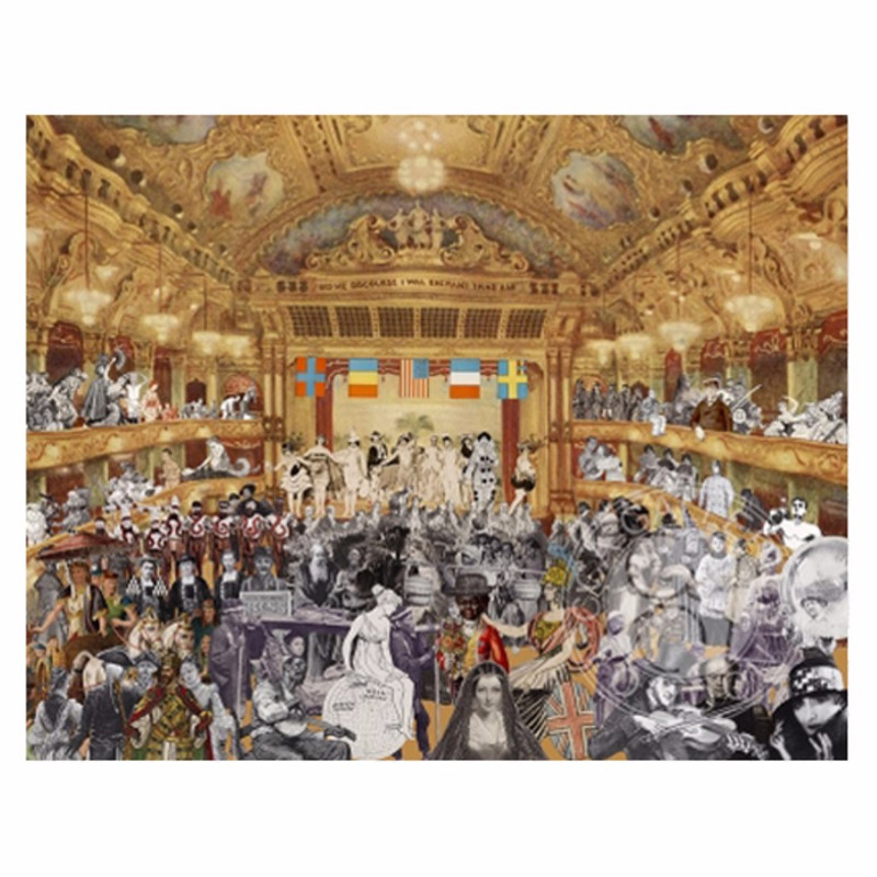 Peter Blake, Marcel Duchamp's World Tour- New Year's Eve Parade at The Tower Ballroom, Blackpool