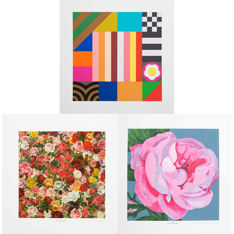Peter Blake, A Rose, Is a Rose, Is a Rose, 2017