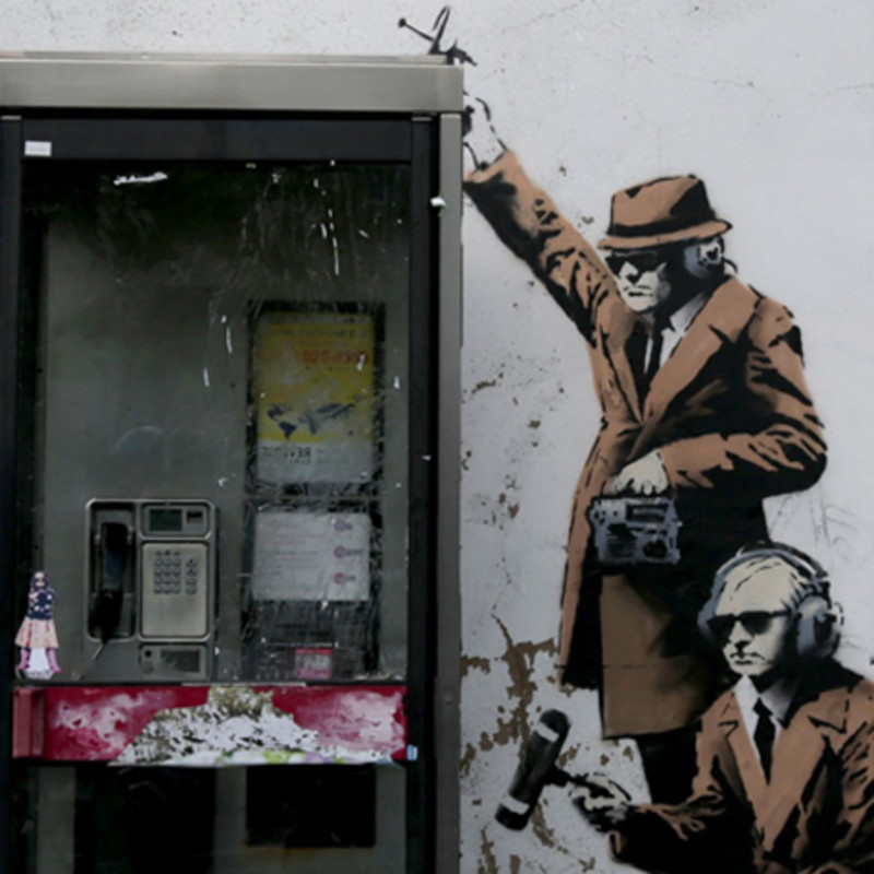 Banksy's Cheltenham 'Spy Booth' Reduced To Rubble