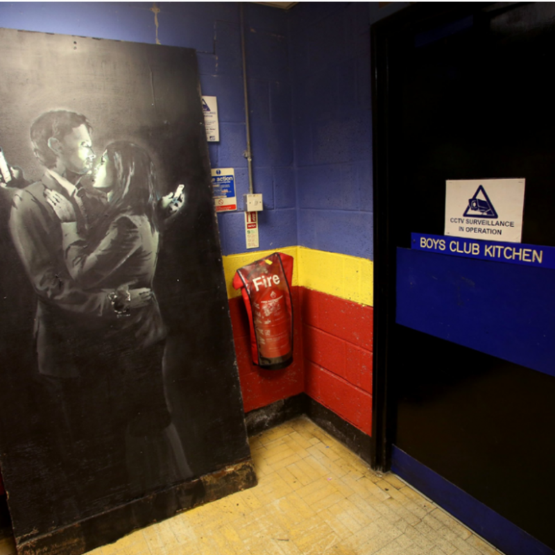 Banksy's Mobile Lovers raises £400k for Youth Club