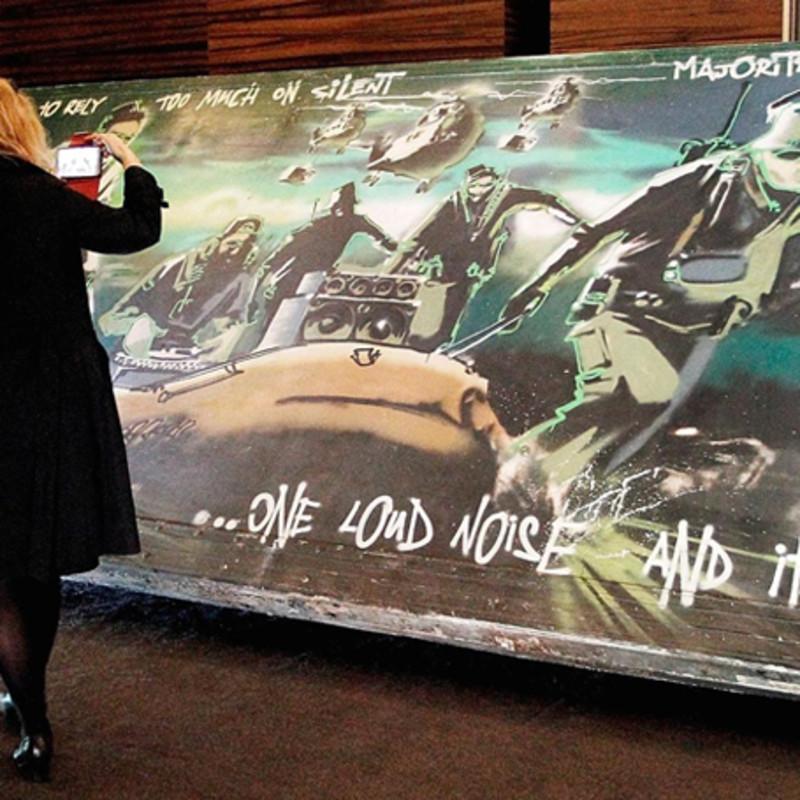 Banksy's 'Silent Majority' fetches over £445k in Paris auction