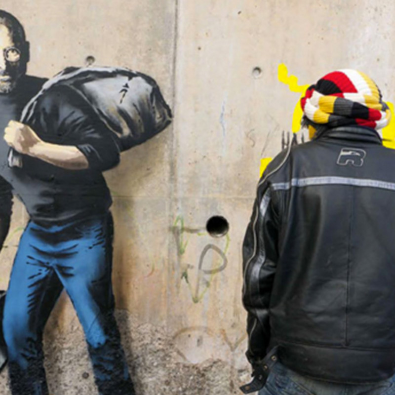 Banksy Uses Image Of Apple Founder Steve Jobs In New Calais Pieces