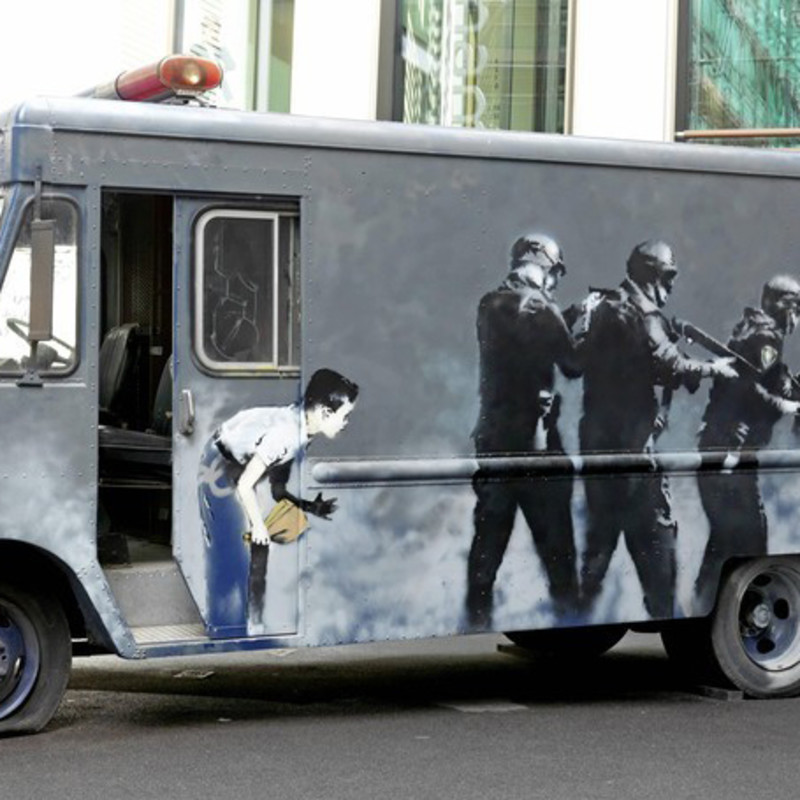 Banksy Van Sells for £218,000 / Original Stencils Destroyed In Australia