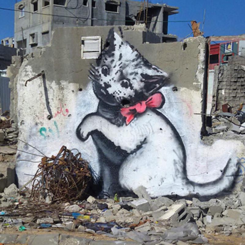Banksy goes undercover in Gaza