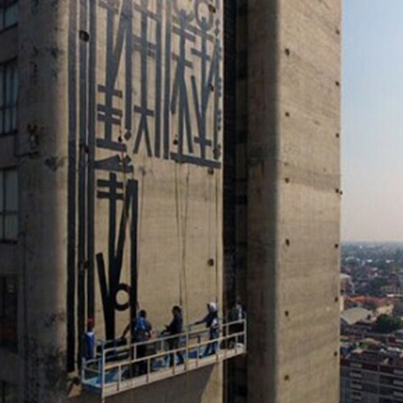 RETNA Paints Huge Mural In Mexico City