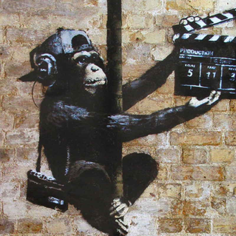 CCTV Footage Shows Banksy At Work