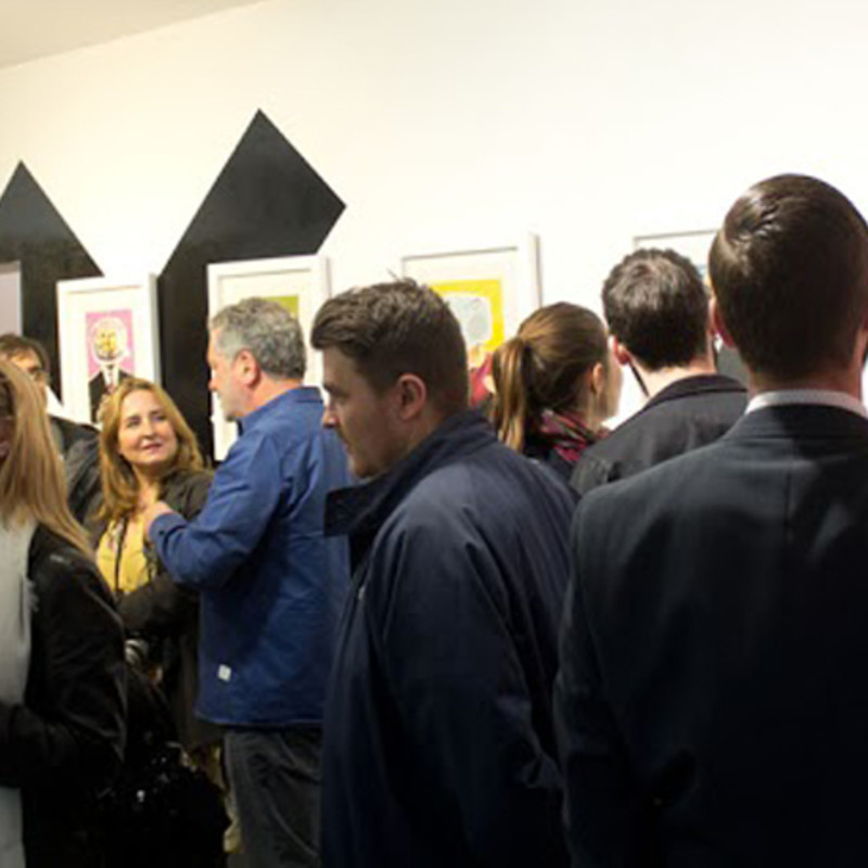 'The Art of Politics' Private View and Blek Le Rat In The Gallery