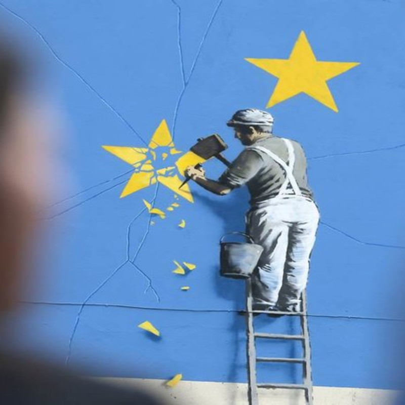 Banksy Tackles Brexit In Latest Kent Mural