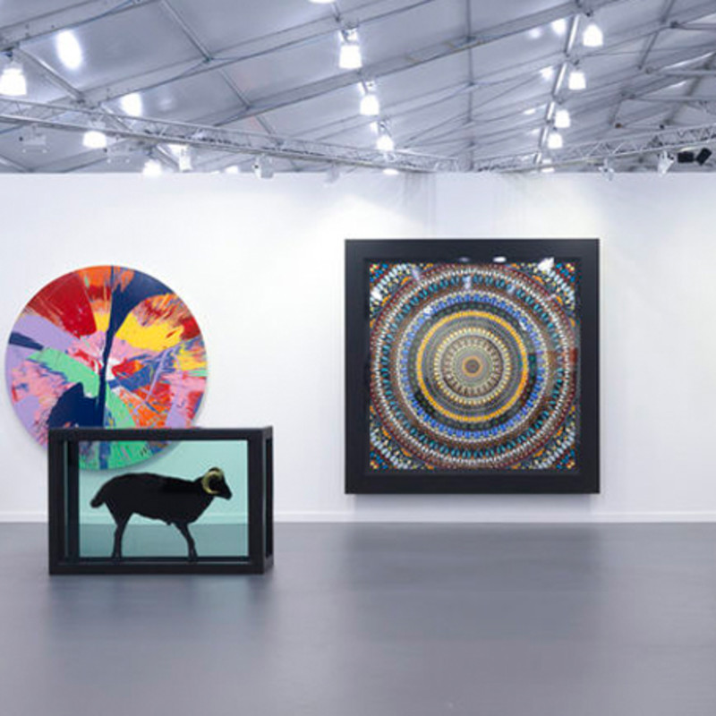 Damien Hirst Exhibits Old and New Work at Frieze NY