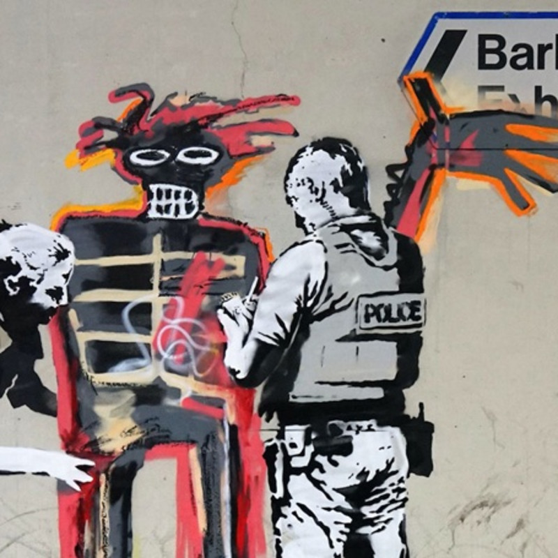 Banksy pays homage to Basquiat with two new London Murals