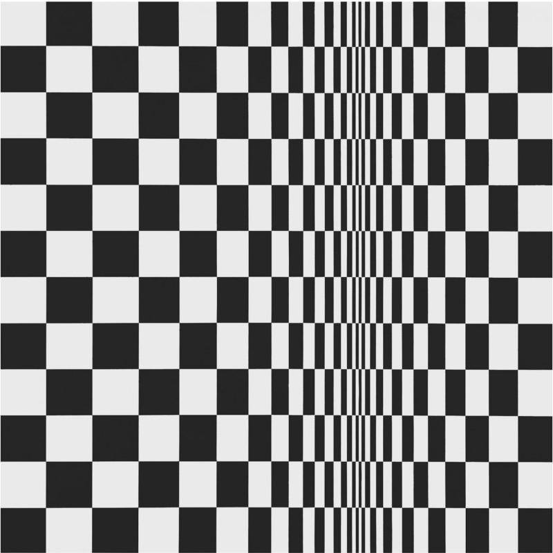 Movement in Squares, 1961, by Bridget Riley, synthetic emulsion on board. © The artist