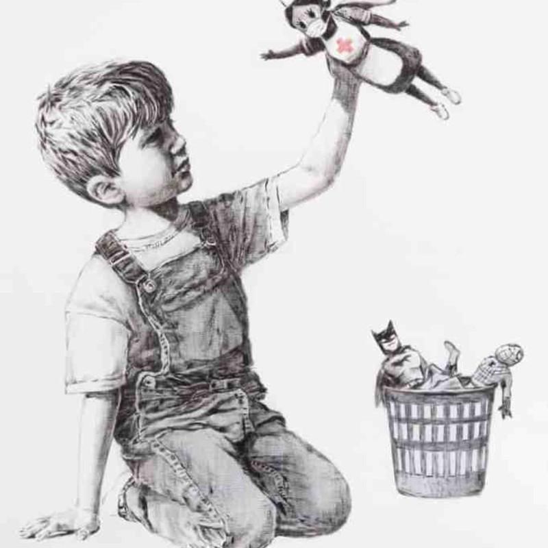Banksy's Tribute to NHS, Damien Hirst x Snapchat and The Met's lockdown art challenge