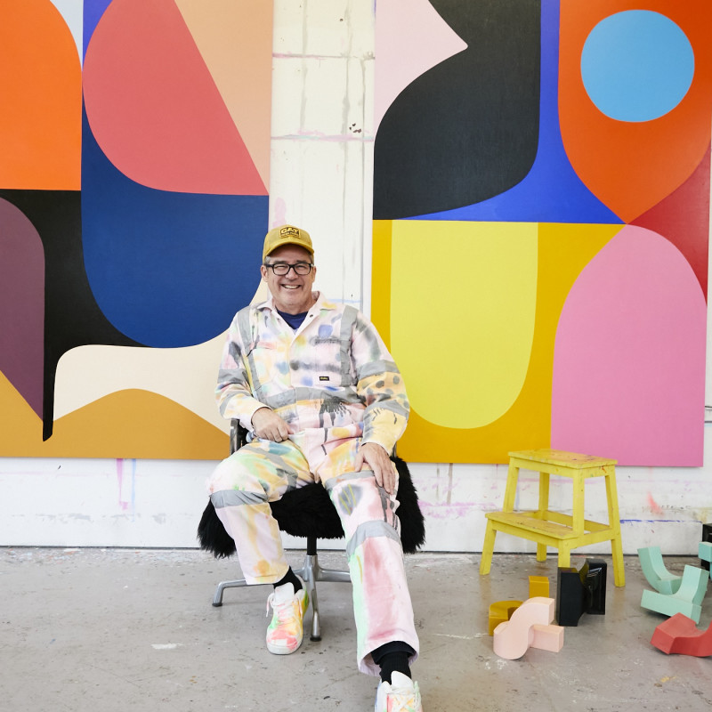 Stephen Ormandy in his studio. Image courtesy of Stephen Ormandy.