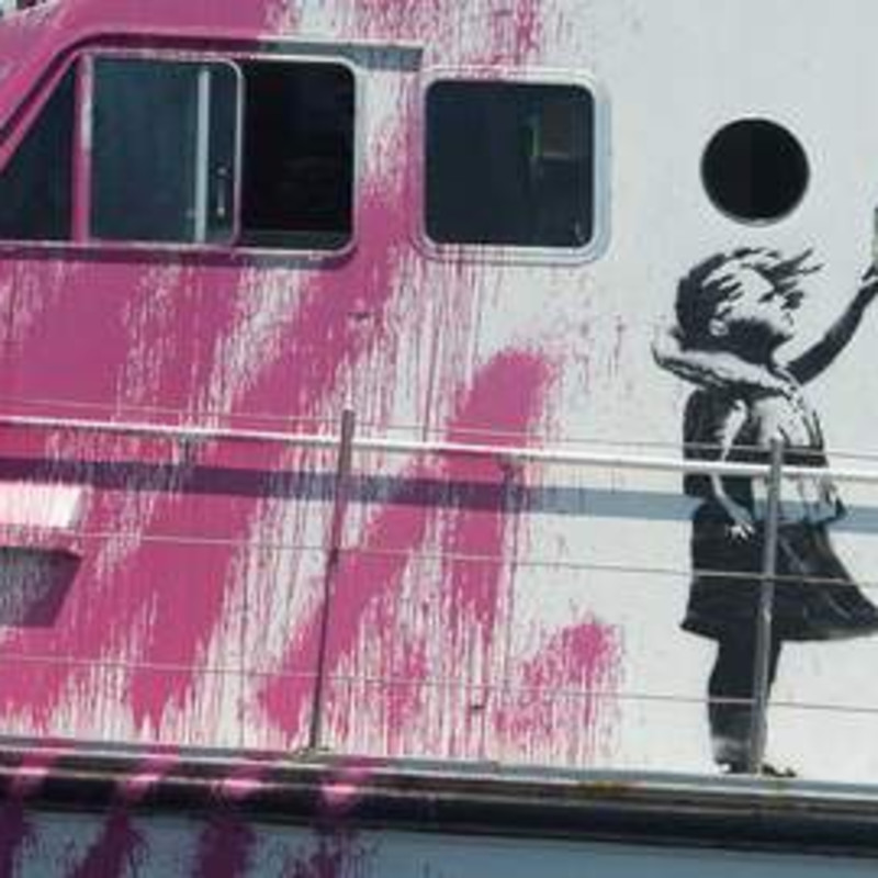 Banksy Funds Refugee Rescue Boat