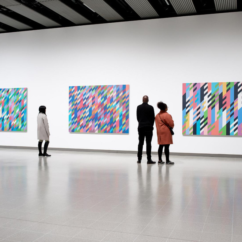 Bridget Riley at the Hayward Gallery, 2019.