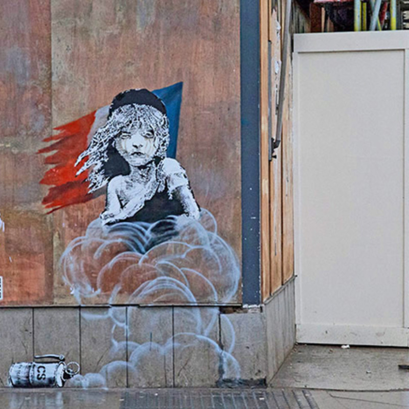 Banksy's Latest Artwork Criticises Alleged Use Of Teargas In Calais