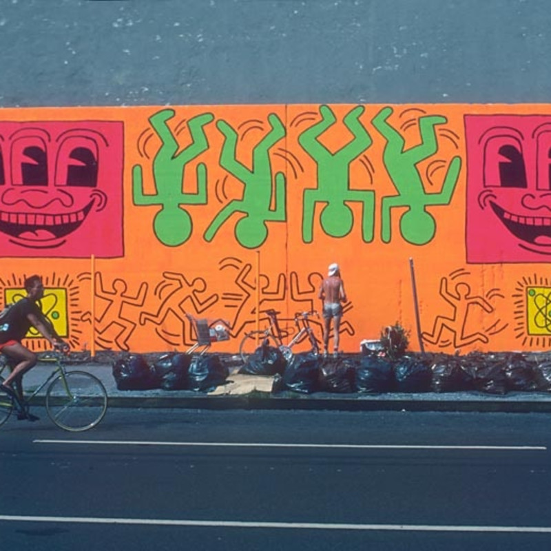 Martha Cooper 'Keith Haring Painting the Bowery Wall' Digital C print, Signed and Numbered, Edition 5/9, printed on Hahnemuhle fine...