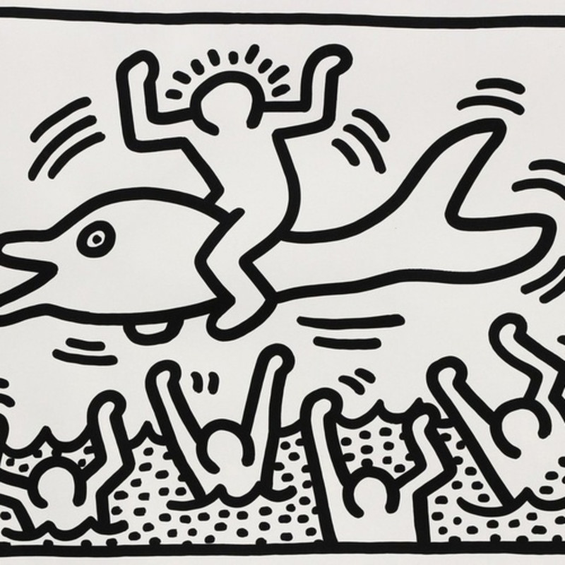 Untitled (Man on Dolphin), 1987 Keith Haring