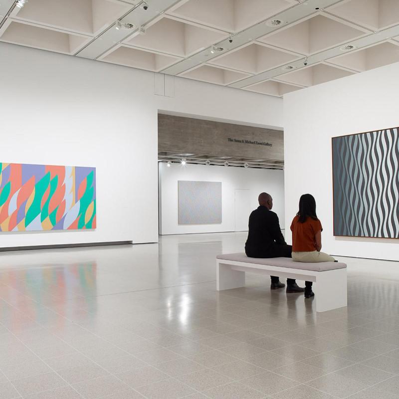 Bridget Riley at the Hayward Gallery, 2019.