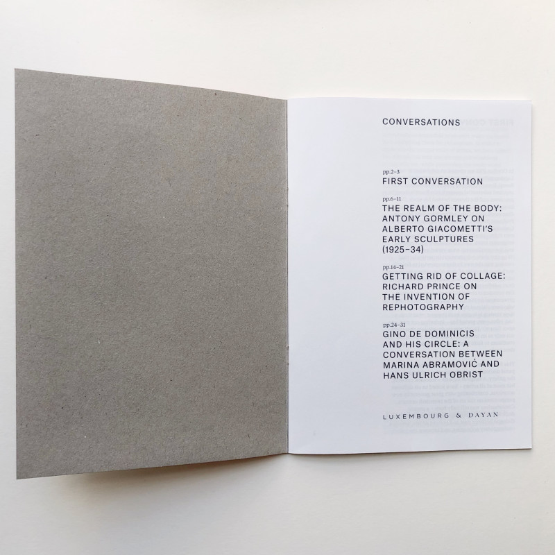 Conversations 1: Looking Back inside page