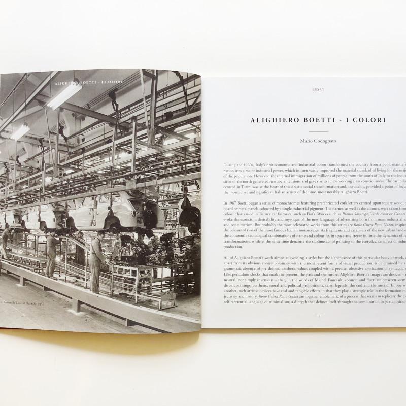 Alighiero Boetti: i Colori inside page