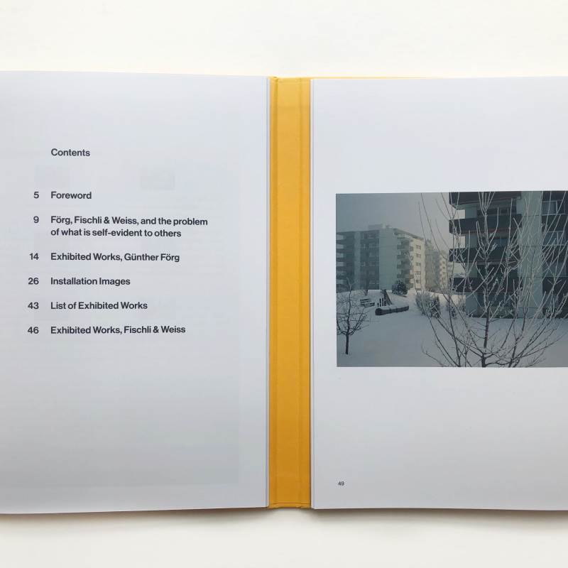 Förg: from and against Modernism, with a response by Fischli & Weiss inside page