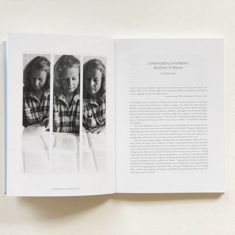 Irma Blank: painting between the lines inside page