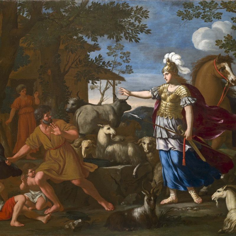 Giacinto Gimignani, Erminia with the Shepherds