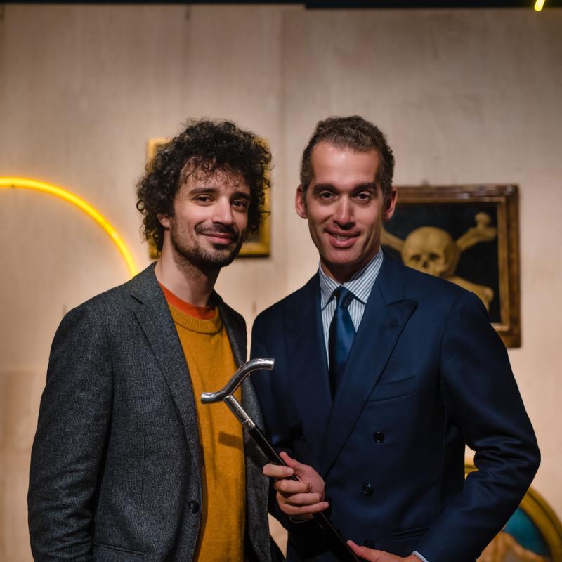 Fabrizio (Fab) Moretti and dealer Fabrizio Moretti. COURTESY SOTHEBY'S