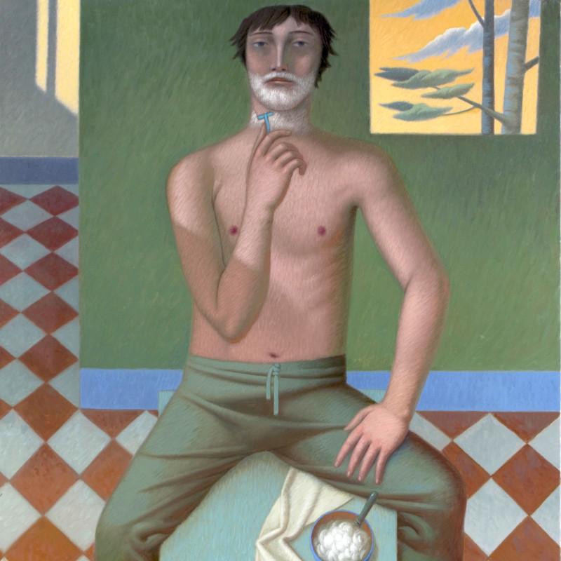 Vincenzo Calli, Mattino D'estate, oil on canvas, 47 x 39.25 inches