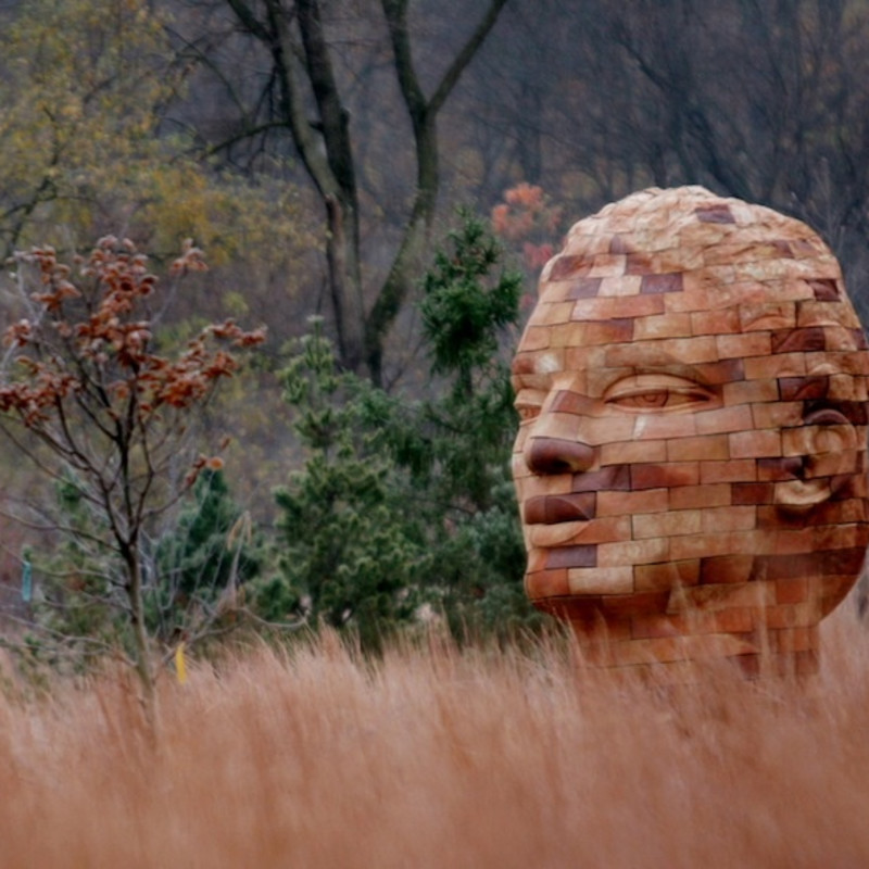 James Tyler, Linden Brickhead, architectural ceramic, 94 inches high