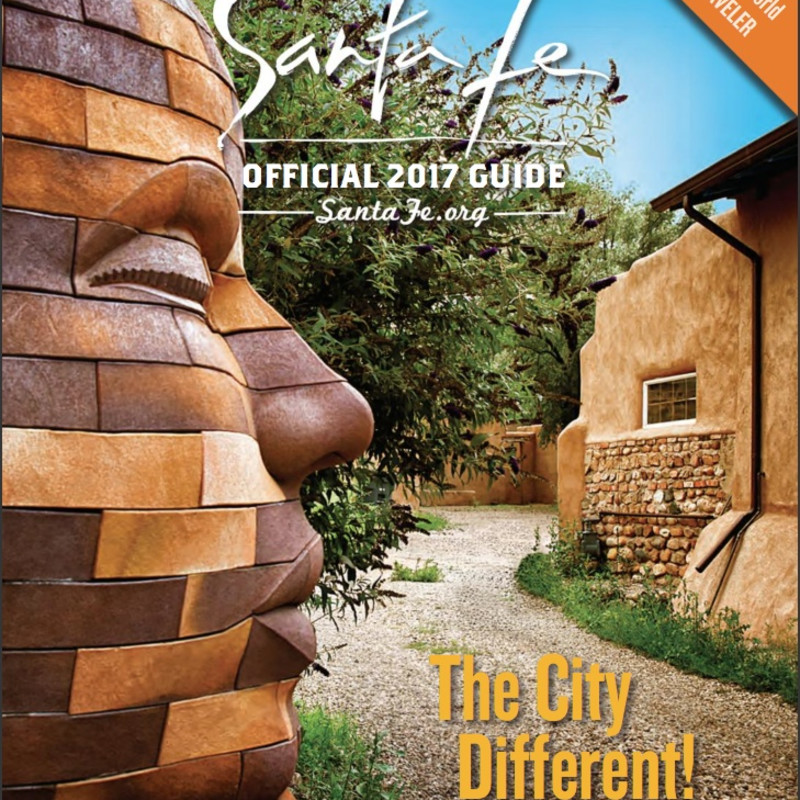 JAMES TYLER ON THE COVER OF THE CITY OF SANTA FE'S OFFICIAL 2017 GUIDe