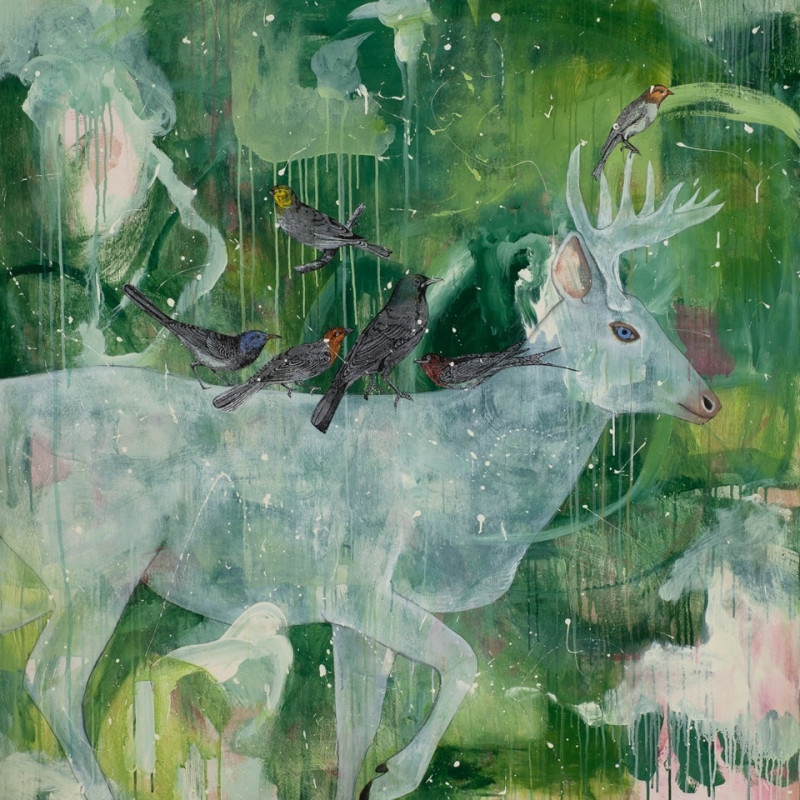 Alexandra Eldridge, Divine Breath, mixed media on panel, 60 x 48 Inches