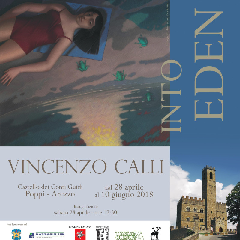 Vincenzo Calli Solo Exhibition at Castello di Poppi dei conti Guidi, a medieval castle in Tuscany.