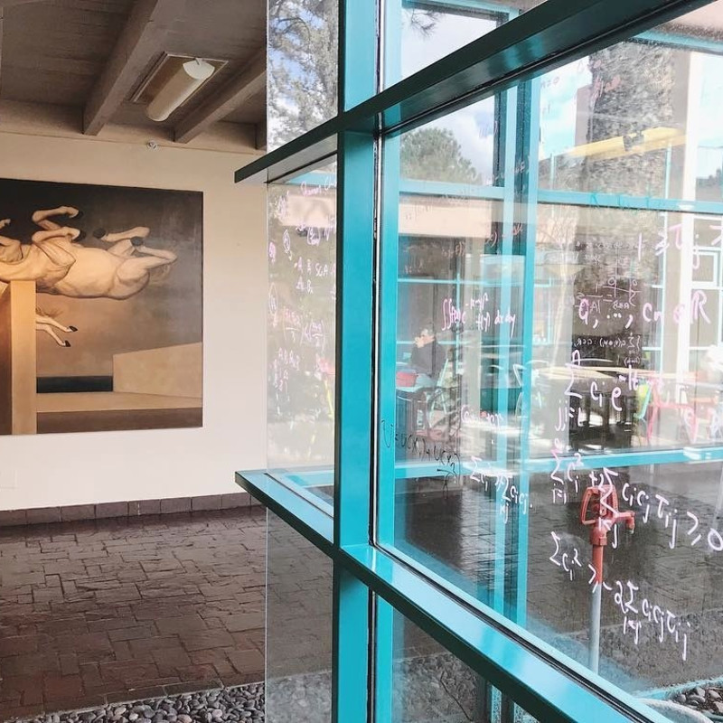 The Santa Fe Institute, One of the World's Leading Scientific Institutions, Features Paintings by Juan Kelly & Michael Bergt
