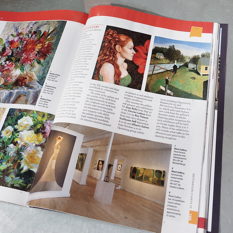 Nüart Gallery featured in The Art Lover's Guide to Collecting Fine Art In Santa Fe