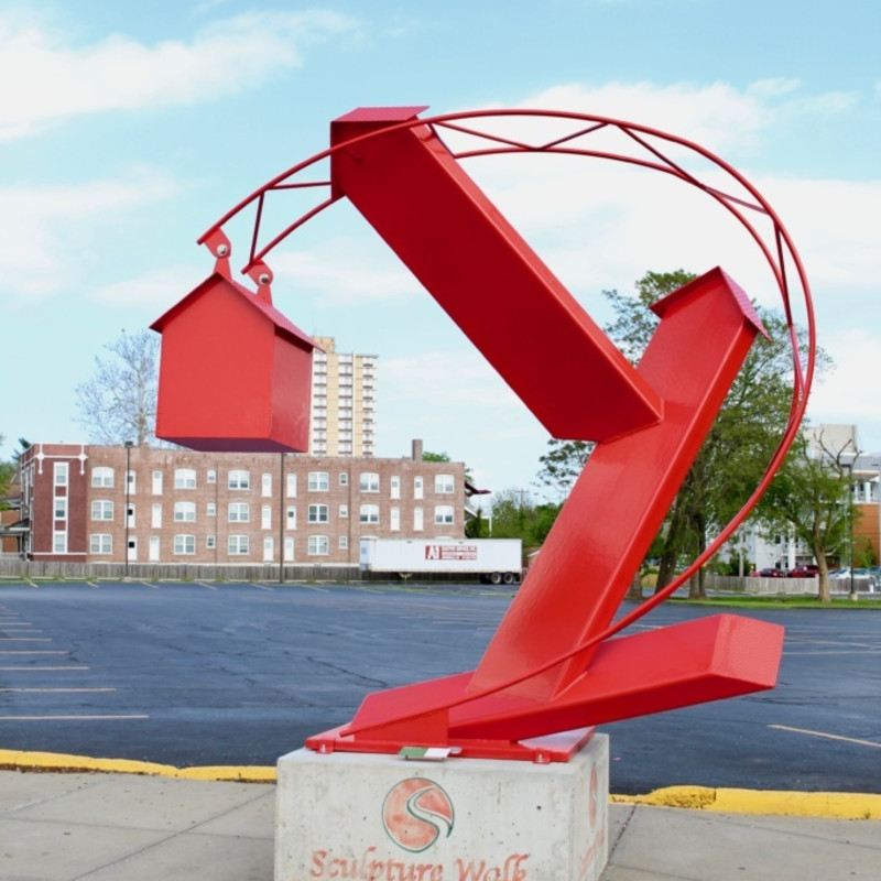 Jorge Leyva's Powder Coated Steel public art installation in Chicago