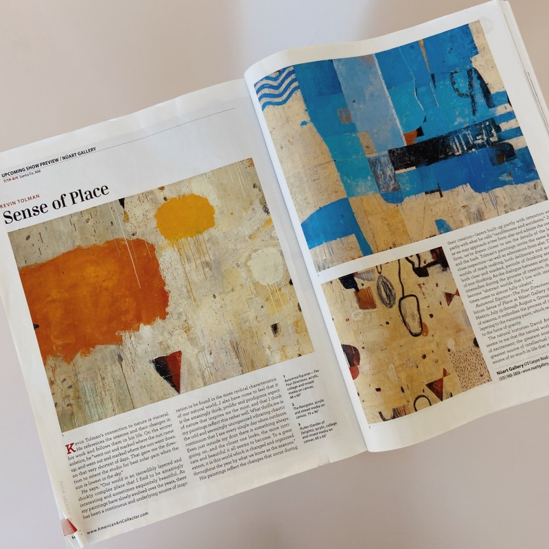 Kevin Tolman | SENSE OF PLACE | FEATURED IN AMERICAN ART COLLECTOR MAGAZINE