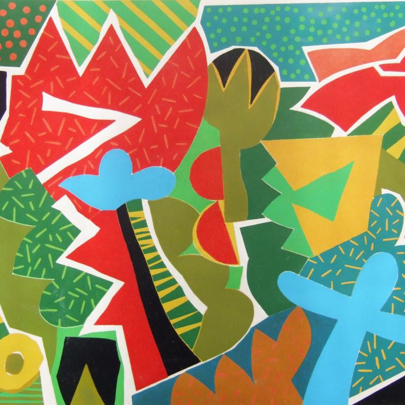 Terence Gravett ARE, Hidcote, woodblock