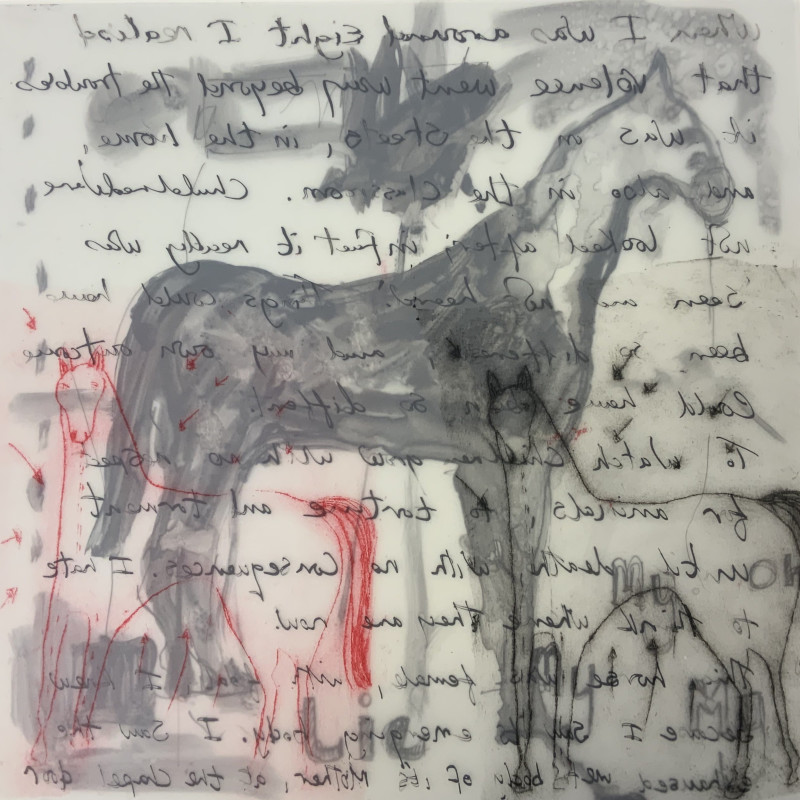 hings could have been different, Mapping 2020, monoprint drypoint
