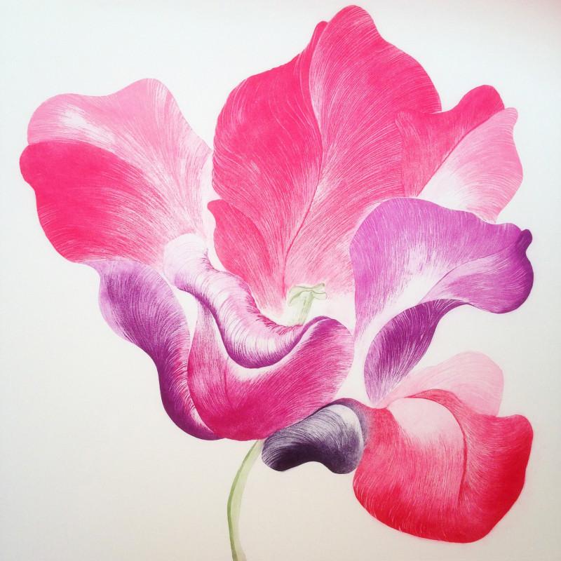 Tulip for Miriam, etching