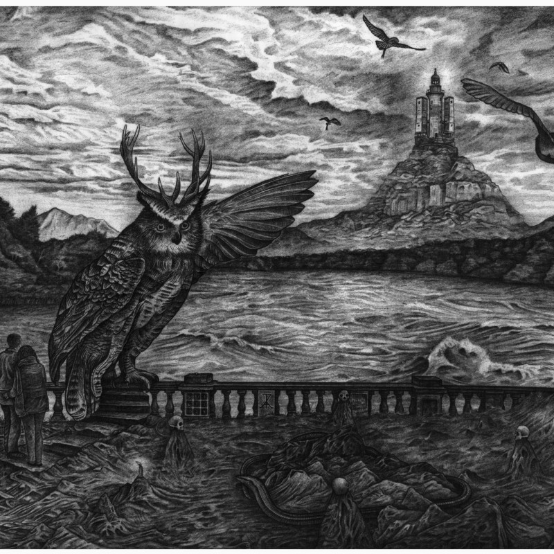 Raphael Appignanesi ARE, Beginning of the End, hydro-plate etching