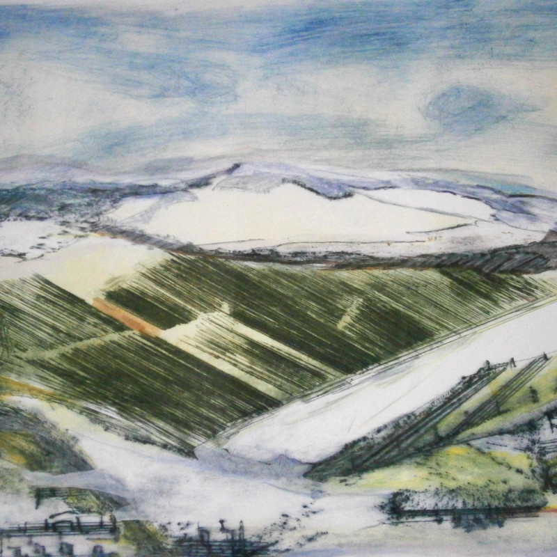 Daphne Casdagli RE - Winter on the South Downs