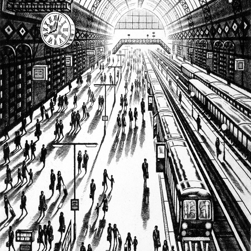 John Duffin RE - Another Arrival (King's Cross St Pancras Station)
