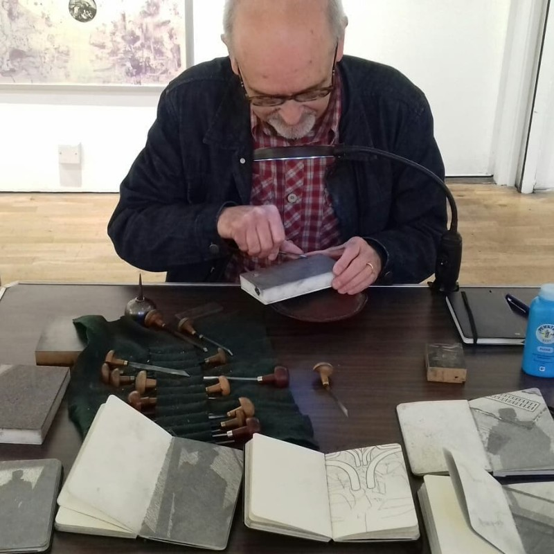 Peter S Smith RE, at a 2018 Meet the Artist event