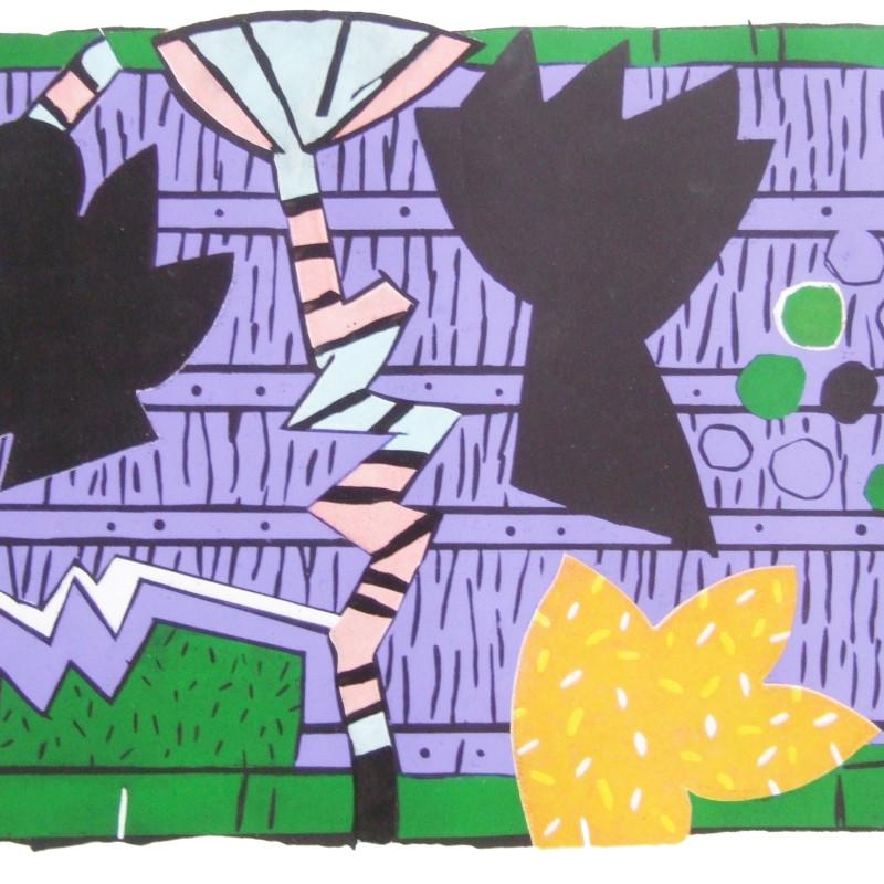 Terence Gravett ARE, Terrace Series 3, woodblock